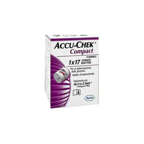 Accu Chek Compact Glucose Test Strips Pack 1